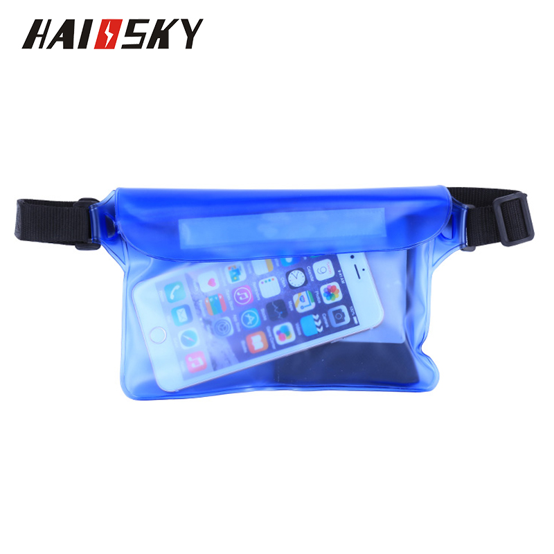 Haissky Waterproof Waist Case Cover Untuk iPhone X XR XS Max 8 7 6 6S Plus Samsung S10 S9 S8 Plus Underwater Sports Phone Bag Bag