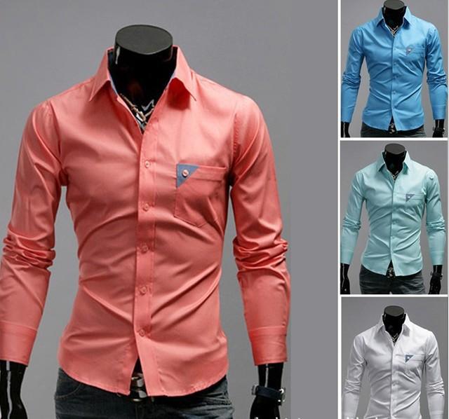 Free Shipping New Men's Shirts Casual Slim Fit Stylish Mens Dress ...