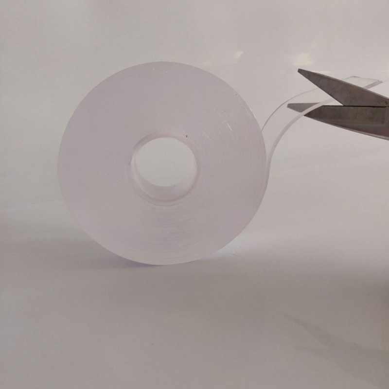 1 rulo 1 M/3 M/5 M Çok fonksiyonlu Şeffaf Çift taraflı Yapışkan Bant Güçlü yıkanabilir ve Yeniden Kullanılabilir Etiket Bant