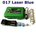 [ReadStar] RedStar XY-017 Alta 5 W Azul ponteiro laser caneta laser caixa de plástico conjunto incluem 1 padrão cap 2 bateria e carregador
