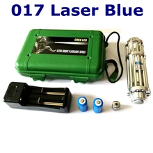 [ReadStar]RedStar XY-017 High 5W Blue laser pointer laser pen plastic box set include 1 pattern cap 2 battery and charger