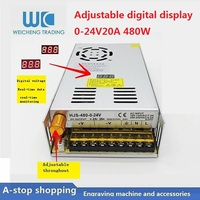Digital display adjustable DC switching power supply 0 24V 20A