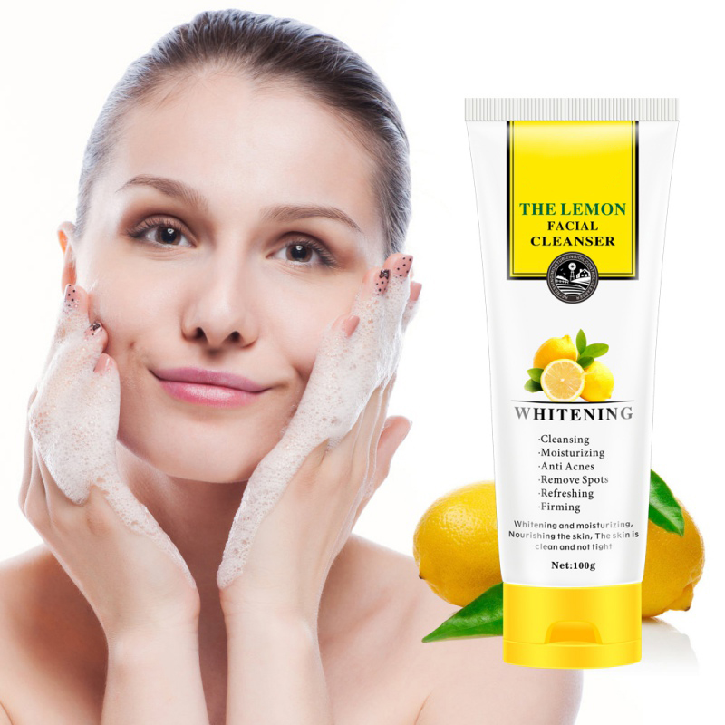 Natural&Soft Organic Facial Exfoliating Cream Whitening Peeling Cream Gel Face Facial Scrub Lemon Face care KH12