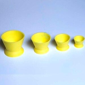 Image 4 - Tigela de mistura de silicone, 4 unidades, novo laboratório dental ecológico, tigela, copo, tigela de mistura, equipamentos médicos dentários de borracha, tigela de mistura
