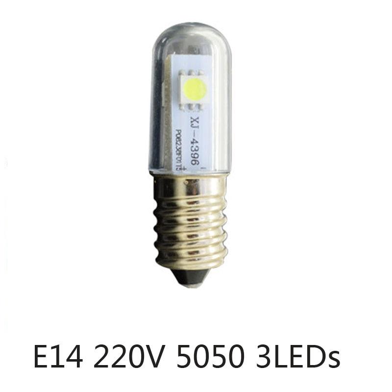 Mini E14 LED Refrigerator Lights SMD5050 0.5W Warm White AC 220V Microwave Ovens Range Hood Night Table Sewing Machine Lamp