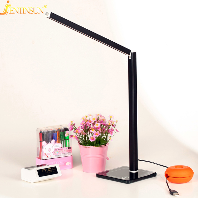 ФОТО 6W Foldable Metal Led Lamp Rechargeable Reading Lamp LED Desk Light Energy Saving Table Lamps For Study Room Bedroom Reading