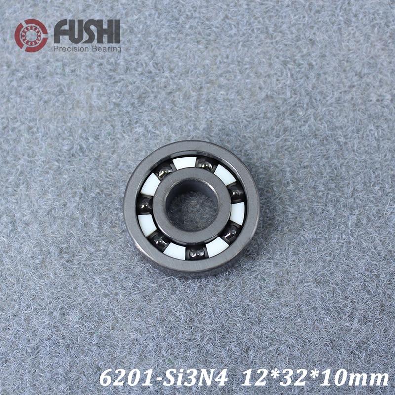 6201 Full Ceramic Bearing ( 1 PC ) 12*32*10 mm Si3N4 Material 6201CE All Silicon Nitride Ceramic Ball Bearings6201 Full Ceramic Bearing ( 1 PC ) 12*32*10 mm Si3N4 Material 6201CE All Silicon Nitride Ceramic Ball Bearings