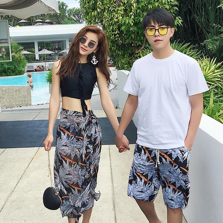 Couple Swimwear Sexy Bikinis Men's   Board     Shorts   Lover   Shorts   Couple Beach Wear Swimsuit Women   Board     Shorts   Bikini Sets
