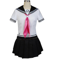 Super Danganronpa Ibuki Mioda Cosplay Costume Adult Womens Girls japanese school uniform sailor dress halloween Outift Custom