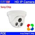 Два Шт Массива Светодиодов Пластиковый Корпус 4MP/1080 P/960 P HD 3-мегапиксельной Объектив ONVIF Крытый Купольная IP-КАМЕРА CCTV Камеры безопасности Бесплатная Доставка