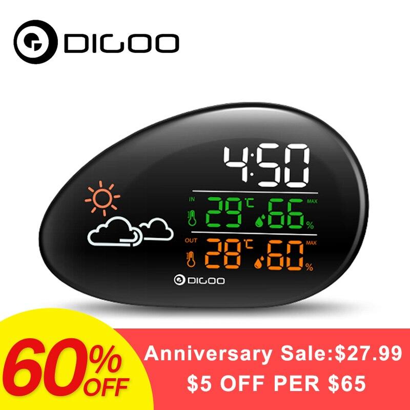 DIGOO DG-THS01 умный дом лежа камень часы метеорологическая станция прогноз погоды открытый комнатный термометр и гигрометр Влажность Кейл