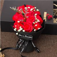Artificial rose New Valentine's day gift 11 bouquet soap flower gift box