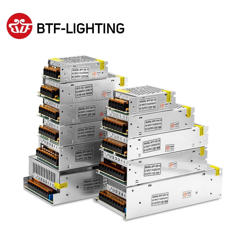 5 В, 12 В, 24 В постоянного тока выключатель светодиодный Питание трансформатор для WS2812B SK6812 1A 2A 3A 5A 6.5A 8.5A 10A 12.5A 16.5A 20A 25A 30A 40A 50A 60A