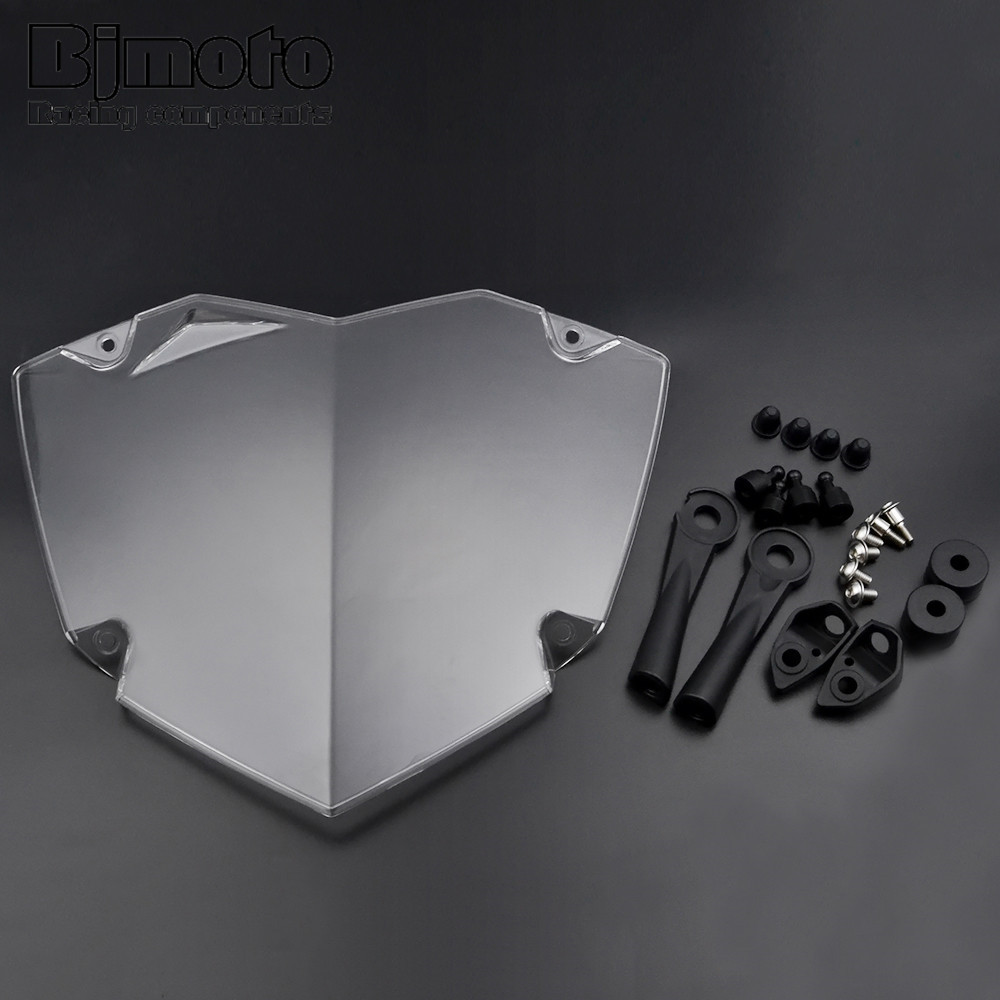 BJMOTO For BMW R1200GS WC R1200GS ADV WC 2014 2017 Motorcycle Headlight Lens Guard Cover Roof