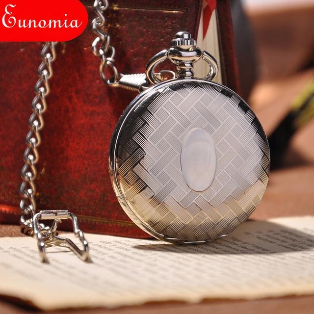 2017 New Fashion Analog Men Watch Mechanical Pocket Watch With Necklace Chain Steampunk Hand Wind Pocket Watch