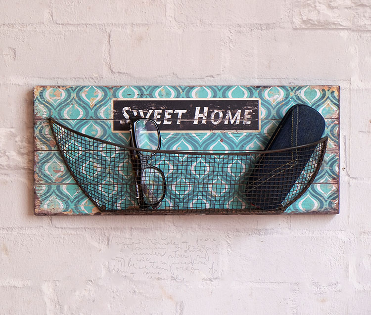 1pc Metro Wooden Wire Net Holder Wall Decoration Key Letters ...