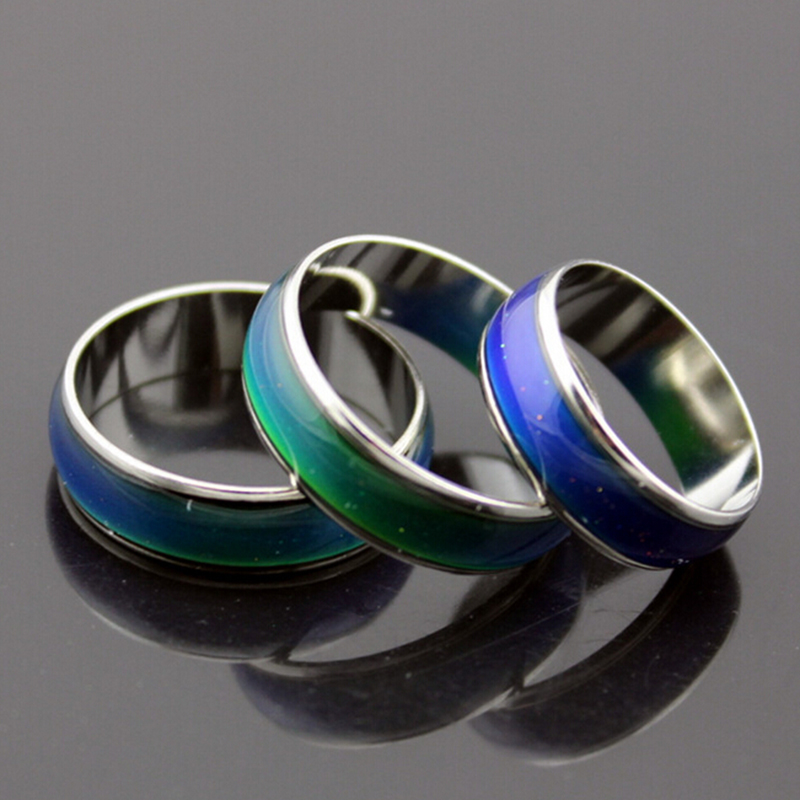 Fashion Silver Plated Women's Ring Magic Color Engagement