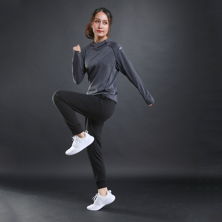 Autumn thin Women Running T Shirts Gym fitness Long Sleeves sweatshirts Quick Dry Training Breathable Hood Sports Yoga Clothing in Yoga Shirts from Sports Entertainment
