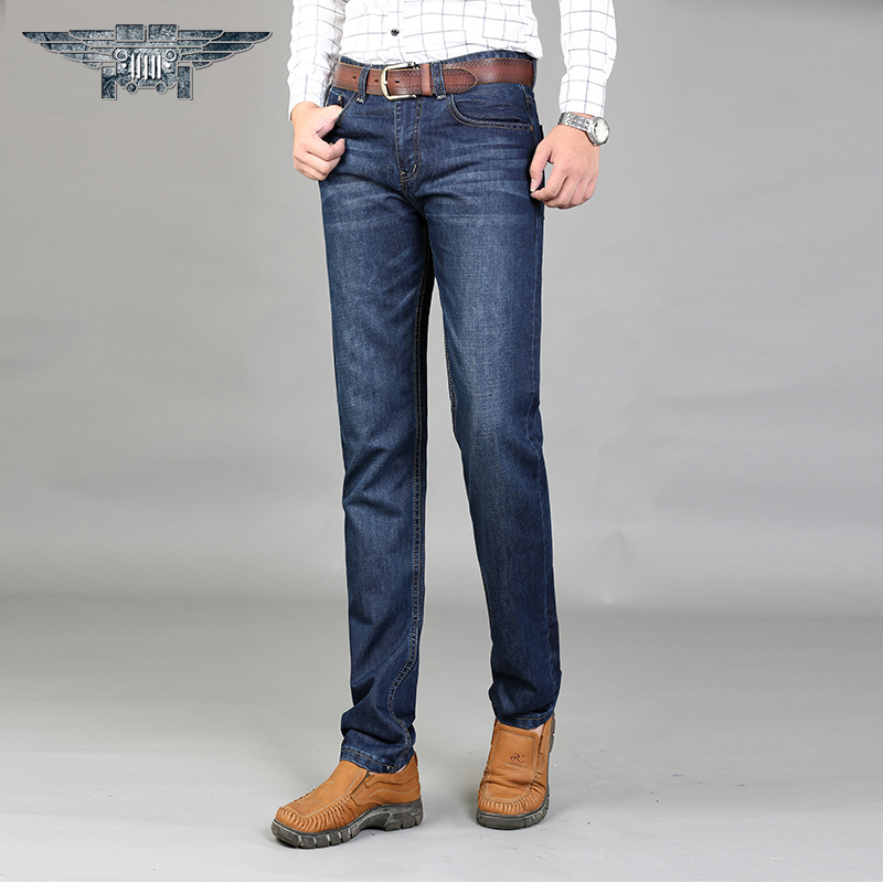 2016 Brand High Quality  Casual Jeans Men's Denim Trousers Pants Male Loose Straight Jeans #8010 men slim jeans high quality brand straight denim overalls male trousers fashion classic 6xl boyfriend casual cowboy pants 2017