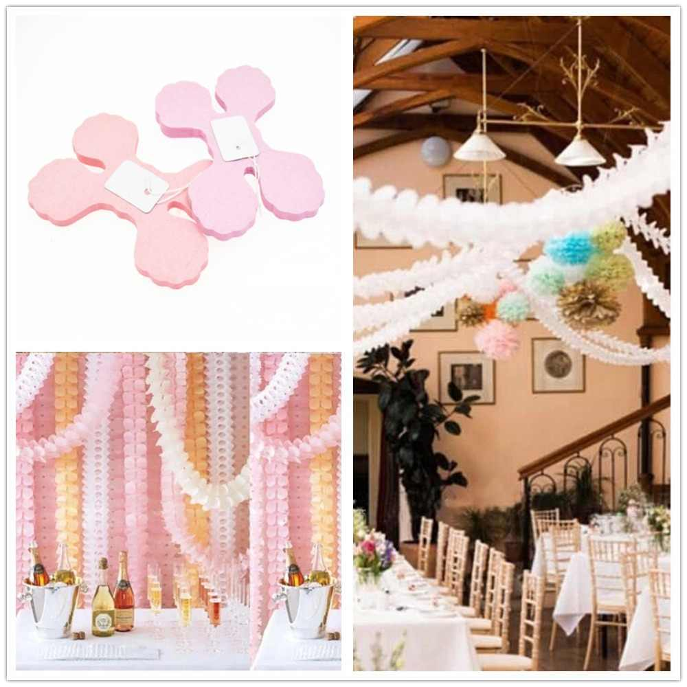 1 Piece Four Leaf Clover Paper Garlands Party Wedding Home Decoration Supplies Kids Birthday Party Festival Hanging Decoration