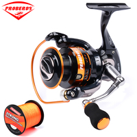 1PC New Aluminum Alloy Fishing Reel Water Resistant Carbon Drag Spinning Reel Larger Spool Max Drag 20KG for Sea Fishing Wheel