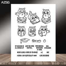 AZSG Love learning Clear Stamps/Stamp/For Scrapooking/Card Making/Silicone Stamps/Decoration  Crafts