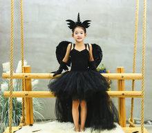 f917be510638ec Halloween czarny diabeł nowy styl jednorożec sukienka dziewczyny sukienka  Tutu skrzydła anioła szpilka zestawy dla dzieci