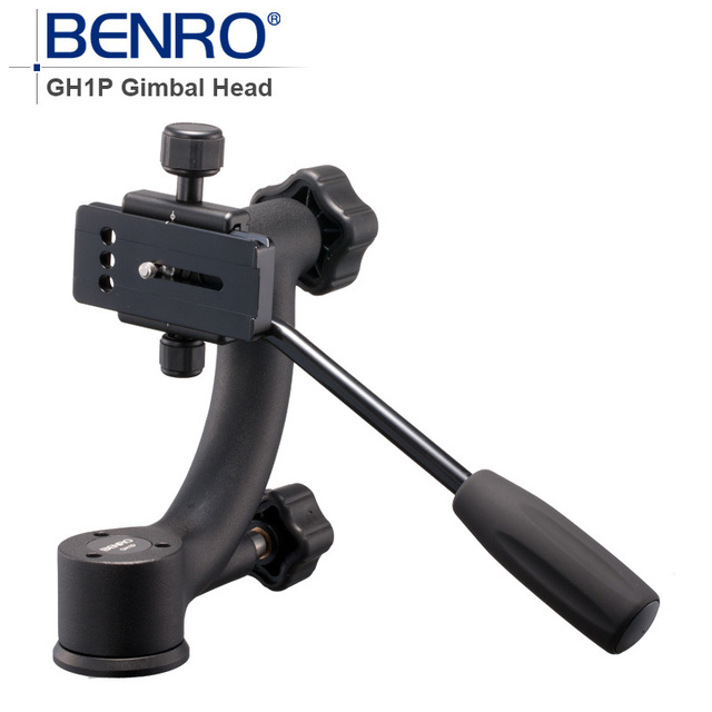 Benro Professional Gimbal Head GH1P Aluminum Gimbal Heads For Heavy Telephoto Lenses Camera Tripod Max Loading 12kg