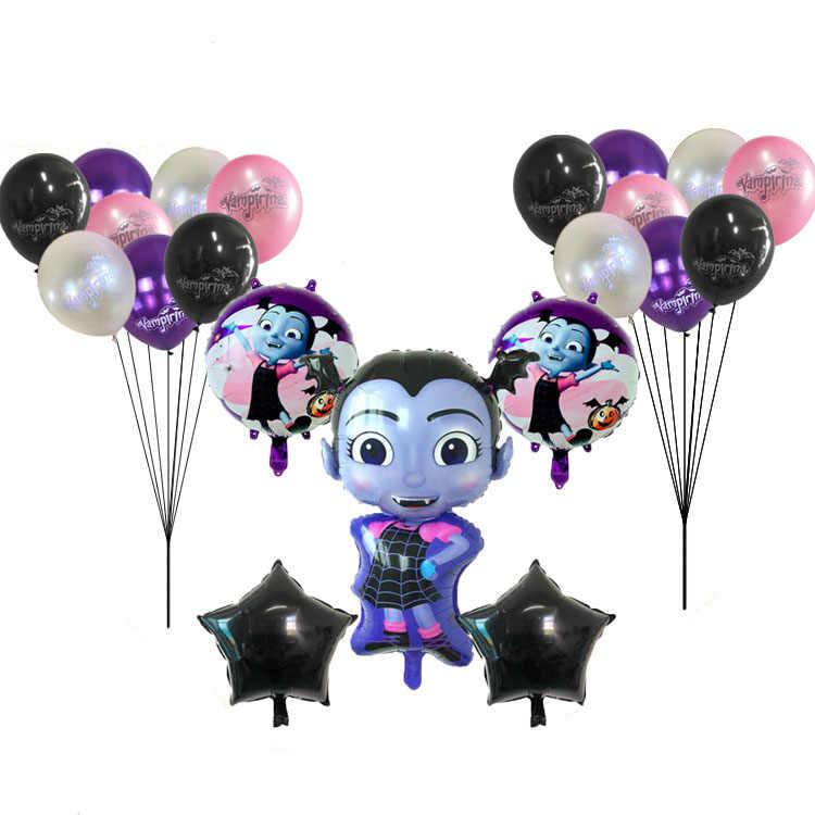 birthday party decorations kids ballon vampirina vampirin vampire party happy Birthday decoration globos foil helium balloons
