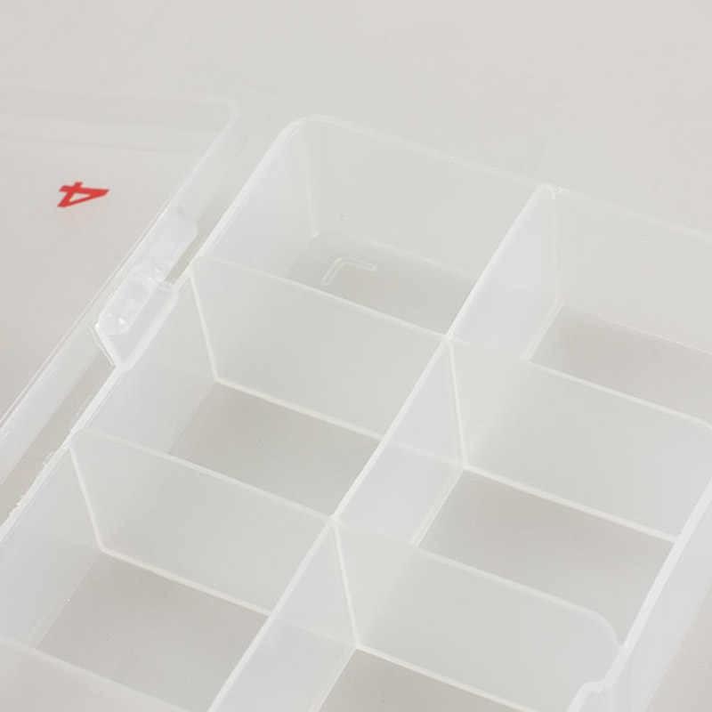 נייל False טיפים תיבת אחסון ברור תאים פלסטיק מקרה תאים נייל אמנות קישוט מיכל תצוגת מקרה