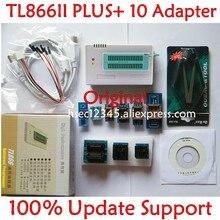 Orijinal V10.22 TL866ii artı evrensel programcı + 10 adaptör minipro TL866 NAND programcı flash yerine TL866cs/A
