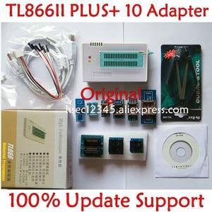 Image 1 - 기존 V10.22 TL866ii Plus 범용 프로그래머 + 10 어댑터 minipro TL866 NAND 프로그래머 플래시 TL866cs/A 교체