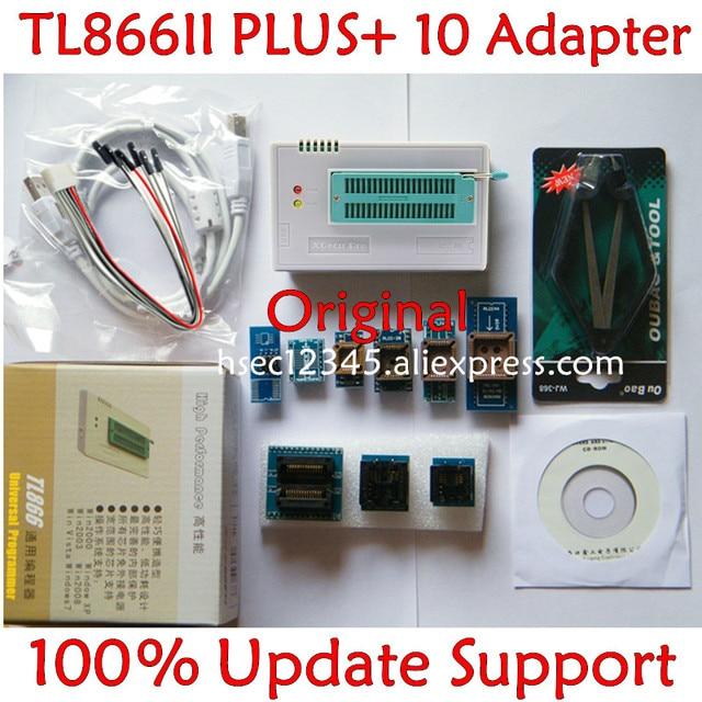 기존 V10.22 TL866ii Plus 범용 프로그래머 + 10 어댑터 minipro TL866 NAND 프로그래머 플래시 TL866cs/A 교체