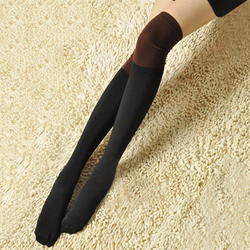 Tights Steady Hot Womens Crochet Knitted Colour Matching Leg Warmers Thigh High Stocking Retail/wholesale 5aze 7frq