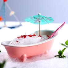 Оригинальность 3D Реалистичная Ванна коктейльное стекло тики вина чашки бар талисманы сорбет смузи молочный коктейль холодный напиток стекло es контейнер