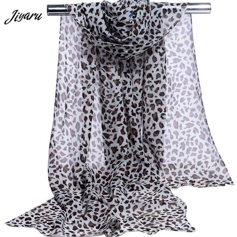 2018 Fashion Women Girl Chiffon   Scarves   Women Leopard Head   Scarves     Wraps   Female Beach Shawl Women Beautiful   Scarves   160x50cm