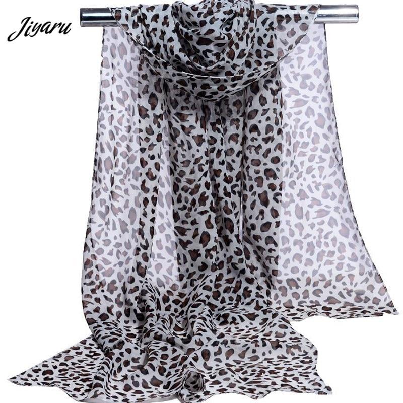 Fashion Women Girl Chiffon   Scarves   Women Leopard Head   Scarves     Wraps   Female Beach Shawl Women Beautiful   Scarves   160x50cm
