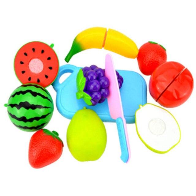 6 unids 8 unids/set Cortar Vegetales de Frutas Niños niños Educativo Juego de Imaginación Juguete Pretend juguetes para niños