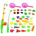 40 шт./лот Магнитной Удочкой Игрушки Для Детей Ребенок Модель Образования Играть Игры Рыбалка Открытый Мальчик Игрушки Набор