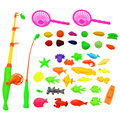 40pcs/lot Magnetic Fishing Rod Toy For Kids Child Educational Model Play Fishing Games Outdoor Boy Toys Set