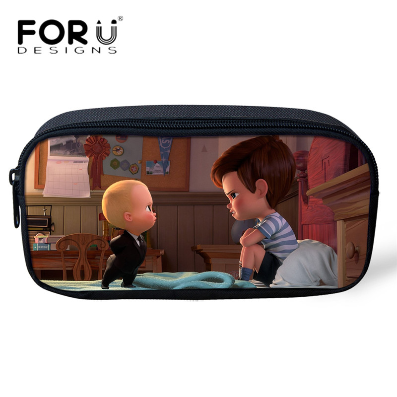 a9a196999758 US $8.09 10% OFF|FORUDESIGNS Lovely Cartoon Pencil Bags Boss Baby 3D Mini  Pencil Pouch for Kids Girls Boys Pen Holder Youth Girl Cosmetic Cases-in ...