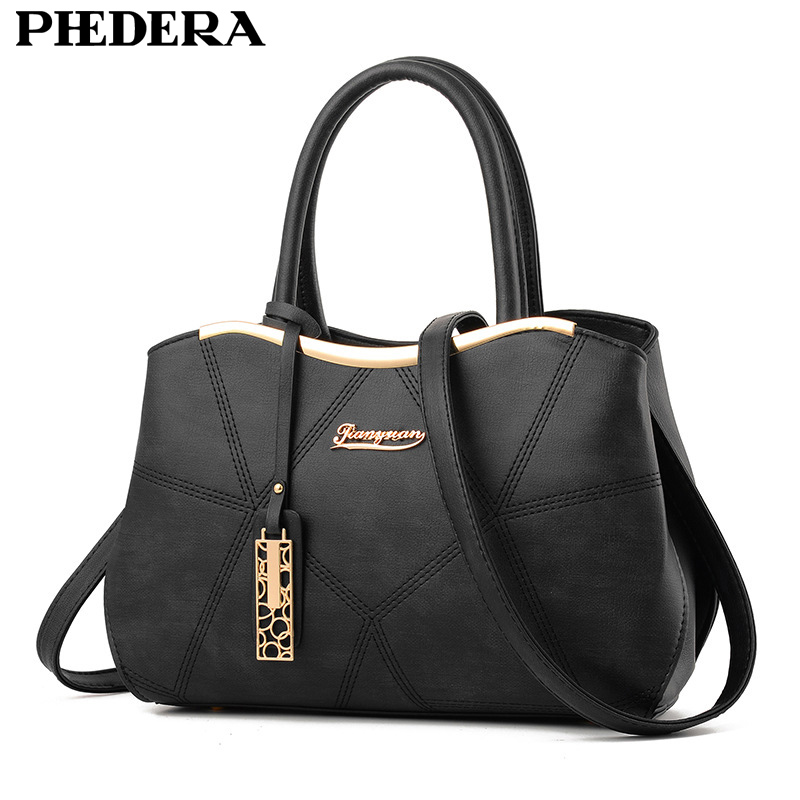 Latest Spring Women BagPU Leather Lady Tote Bag Women Shoulder Bags Brand Female Handbag Embossing Women