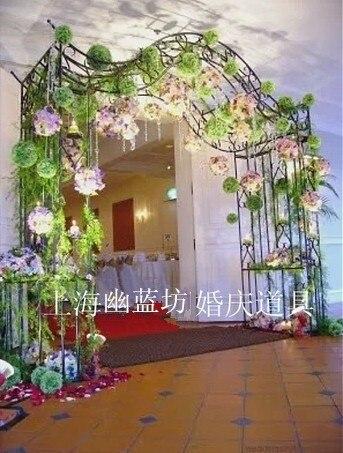 The New Korean Flower Door Arches Continental Iron Wedding Props Supplies