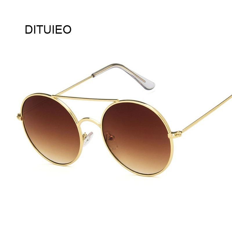 2020 Retro Round Sunglasses Women Luxury Brand Designer Mirror Sun Glasses High Quality Vintage Lunette De Soleil Femme