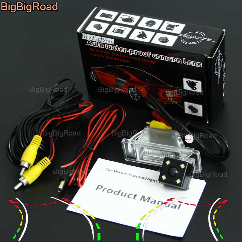 BigBigRoad voiture intelligente piste caméra de recul pour Peugeot 307 hayon 307CC/nissan Geniss Pathfinder Dualis Navara Juke