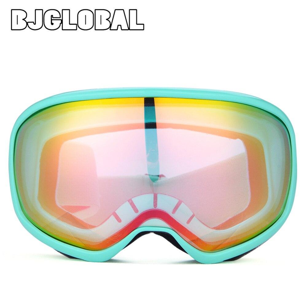 Bjglobal снег выпученными сноуборд очки двойной Анти-Туман Лыжные Сноубординг Лыжный Спорт Googles зимние очки UV400 мотоцикл очки