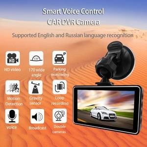 Image 4 - E ACE מיני דאש Camara וידאו מקליט רכב Dvr קול Contro מלא HD 1296 P 3.0 Inch Dashcam האוטומטי Registrator קרוב ראיית כפולה עדשה