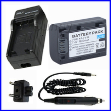 Battery Pack + Charger For Sony DCR-SX40, DCR-SX43, DCR-SX44, DCR-SX45, DCR-SX50, DCR-SX60 Handycam Camcorder