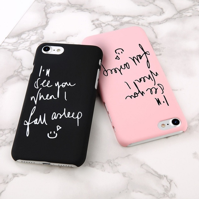 For IPhone 60 Fashion Korean Style Matte English Couple Quotes Simple New Couple Quotes