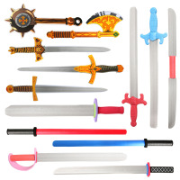 EVA Foam Toy Swords Set Warrior Weapons Toy Model Toy Action Figures Pretend Playset for Kids Different Designs Pretend Play
